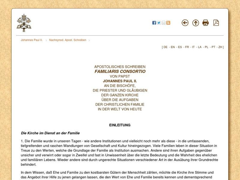 Screenshot von http://www.vatican.va/holy_father/john_paul_ii/apost_exhortations/documents/hf_jp-ii_exh_19811122_familiaris-consortio_ge.html