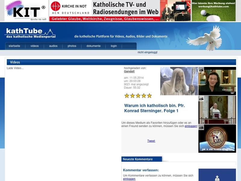 Screenshot von http://www.kathtube.com/player.php?id=34645
